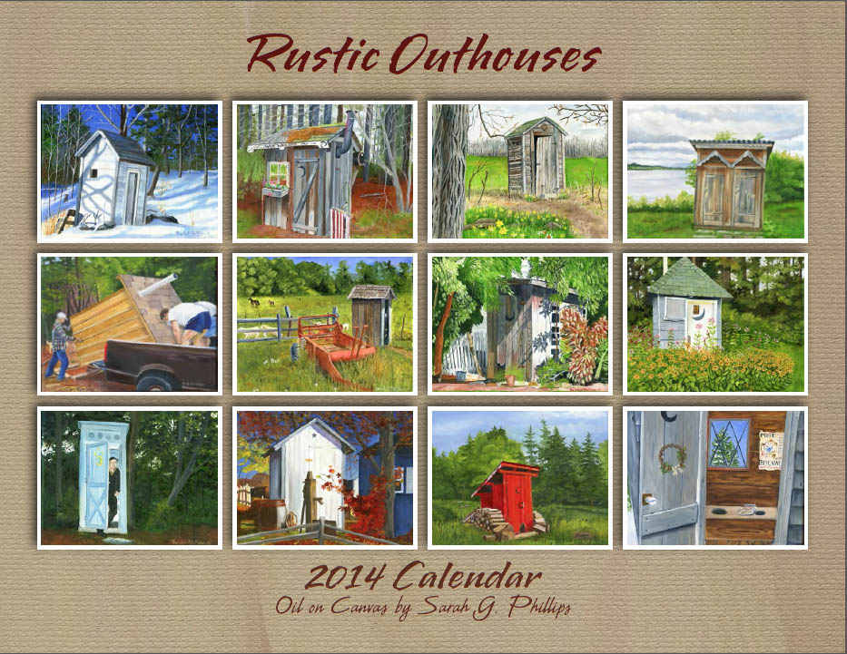 Rustic Outhouses 2015 Calendar | Auntie's Place